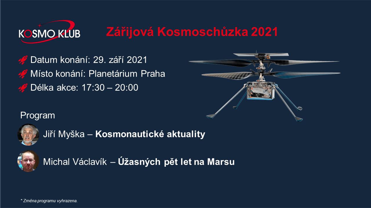 Kosmoschůzka 2021/09