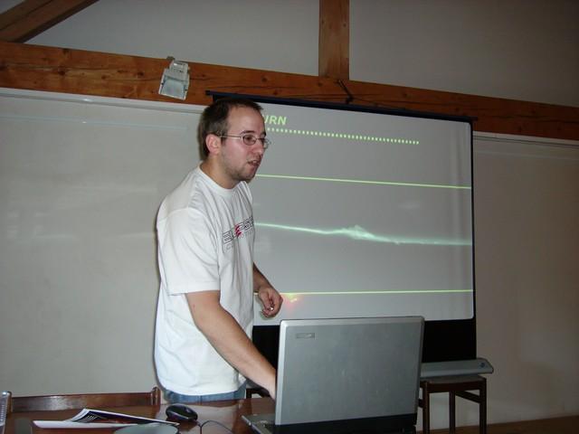 M. Václavík při své přednášce